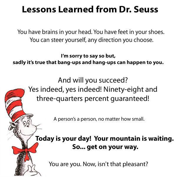 Dr Seuss Motivational Quotes: 13 Best DR SEUSS QUOTES Images On Pinterest