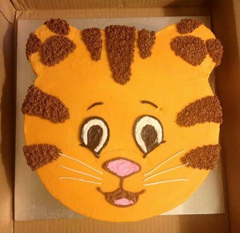 A Daniel Tiger cake! If he gives up on the Butch the Tow Train idea.