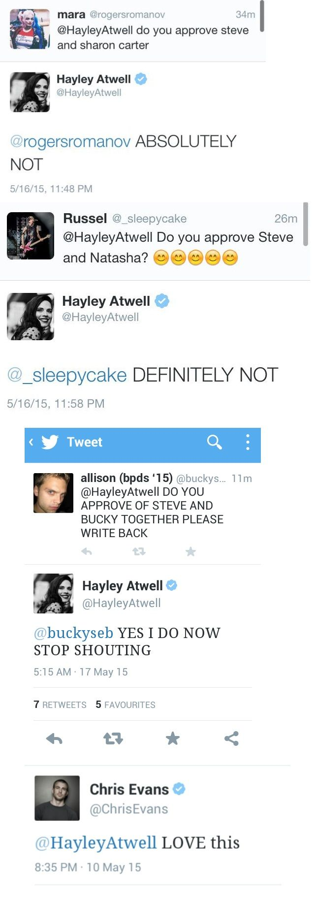 The beautiful Hayley Atwell shipping saga