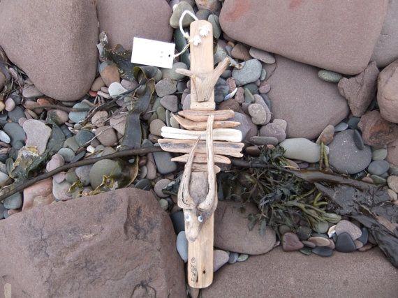 Rare vieux homard Cage bois flotté Art  un idiot par AcadianSeaArt