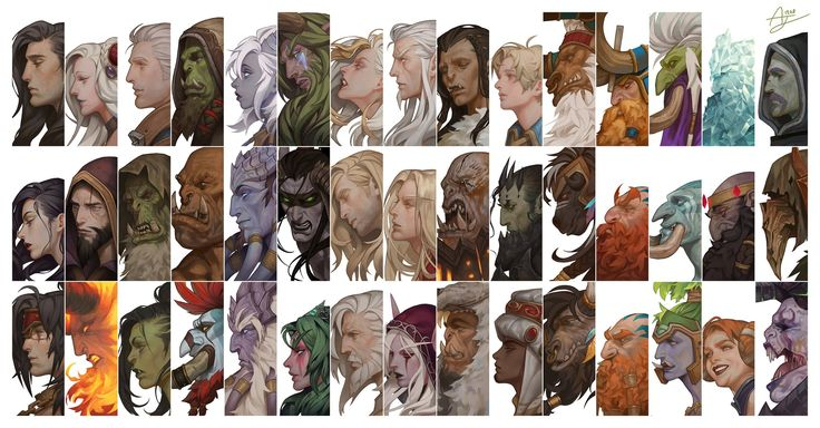 Portrait of Heroes in World of Warcraft by Angju - Album on Imgur