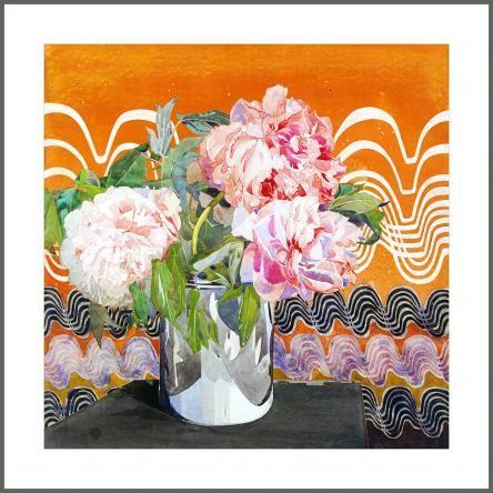 Charles Rennie Macintosh | Peonies | Framed Art Print | Canvas & Frame