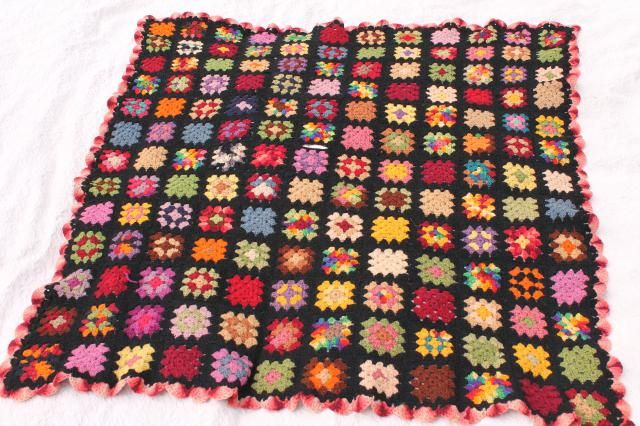 Bright Squares Afghan Granny Square Traditions crochet pattern