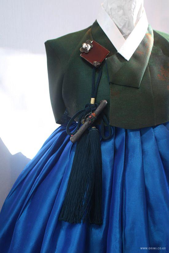 1) green and blue hanbok