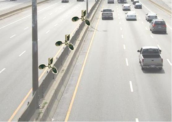 Windmolen langs de snelweg