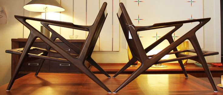 POUL JENSEN Z CHAIRS for Selig I found these at a thrift