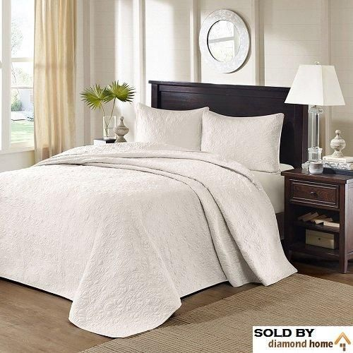 Sale Price 150 99 Order It Here Https Diamondhomeusa Com Products 3 Piece Oversized King Bedspread To The Floo Bed Spreads Light Grey Bedding King Beds