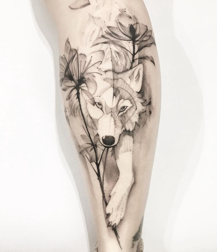 23 Wolves Tattoos to fall in love with – Animals / Animais – #Animais #Animals #Tattoos #Delicious # Wolves
