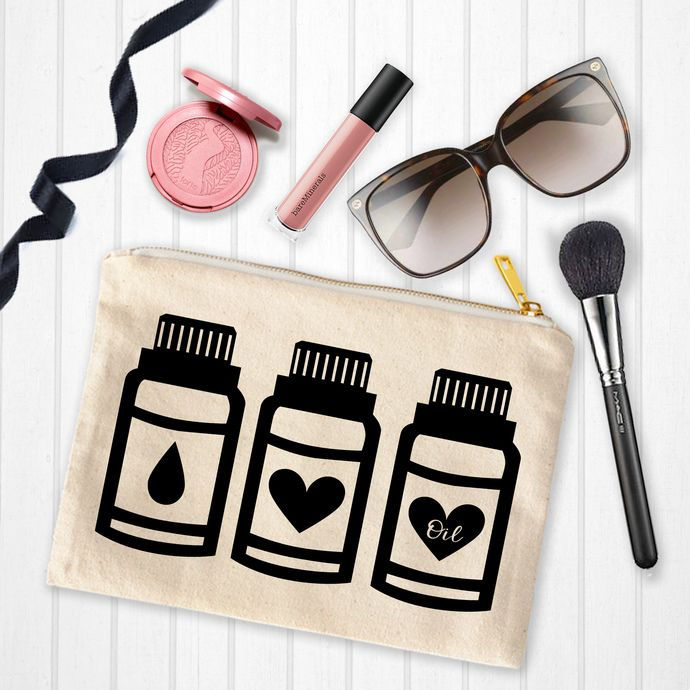 Essential oil bags, Makeup Bags with sayings, personalized