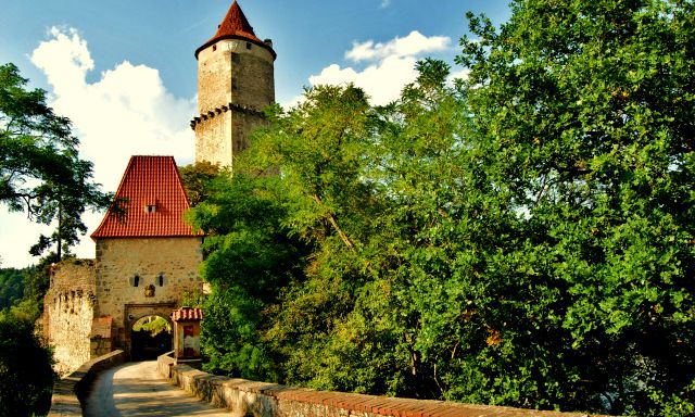 Zvíkov Castle - It started out as a small complex and was continuosly extended until 1278.