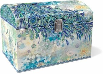 Paisley Peacock Treasure Trunk: Punch Studio: Dragonfly Gifts: FairyGlen.com