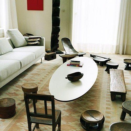 Elliptical soffbord - Elliptical soffbord - vit, kromstativ