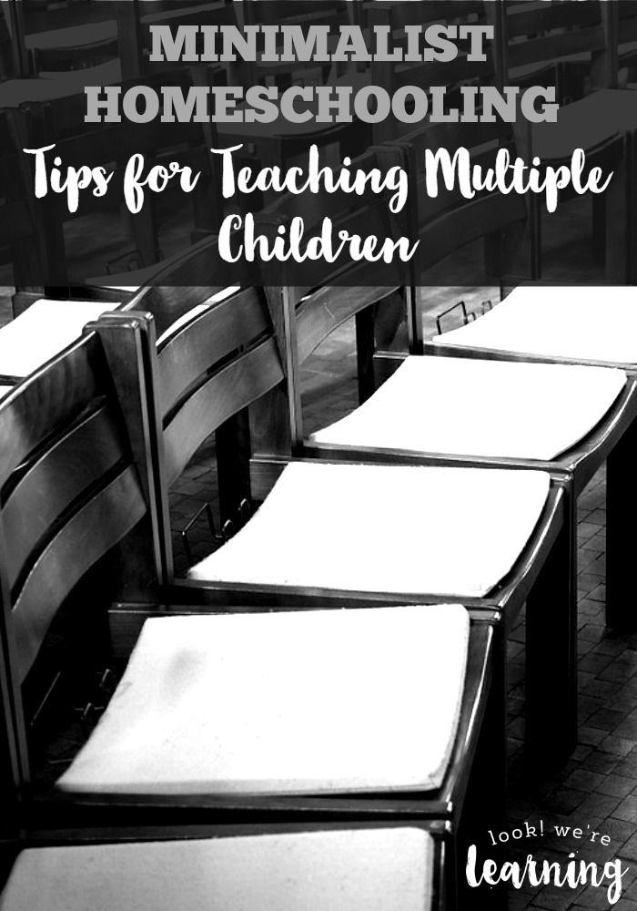 Minimalist Homeschooling - Tips for Teaching Multiple Children