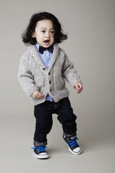 Free Knitting Pattern For Baby Cardigan With Collar : Fast and easy baby / toddler sweater to knit Shawl Collar ...