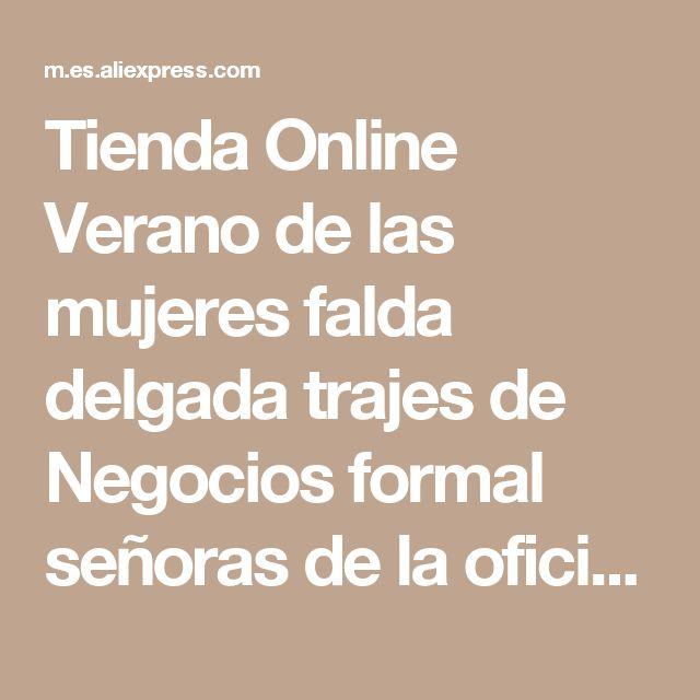 Tienda Online Verano de las mujeres falda delgada trajes de Negocios formal señoras de la oficina elegante chaqueta con falda más tamaño ropa de trabajo de manga corta | Aliexpress móvil