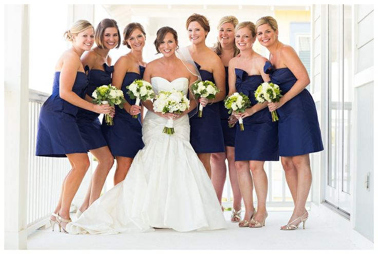 Beautiful color combo - royal blue + green+ white - photo by Candice K Photography