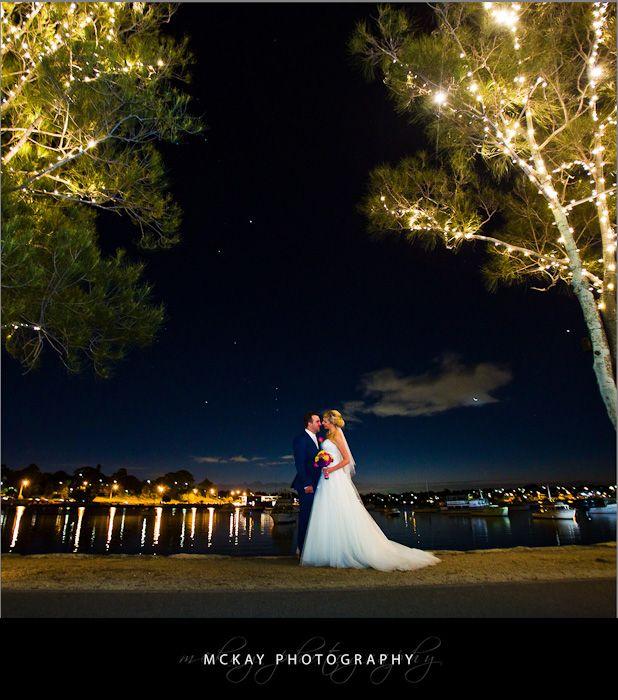 Night shot at Le Montage wedding