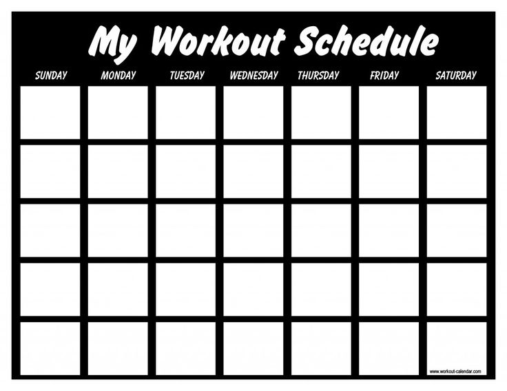 This Site Has Blank And PreMade Work Out Schedules For Several