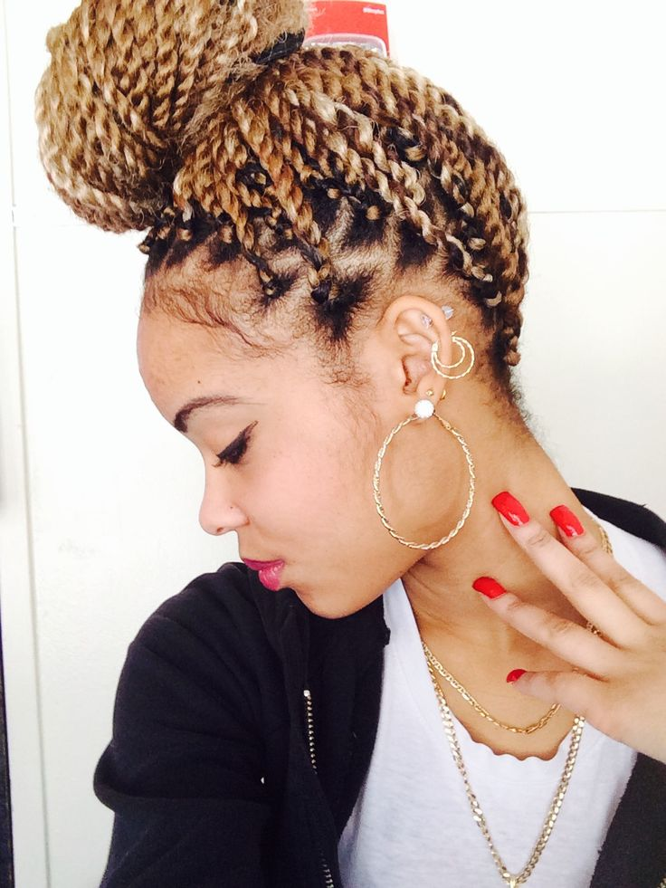 Colored marley twists - To learn how to grow your hair longer click here - http://blackhair.cc/1jSY2ux