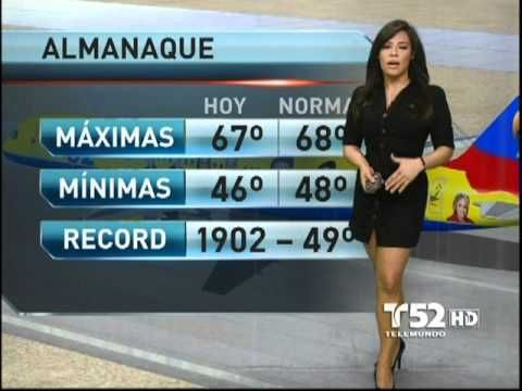 Ericka Pino Sexy Telemundo Weather Girl | Ericka Pino.... sexy weather girl!! - YouTube