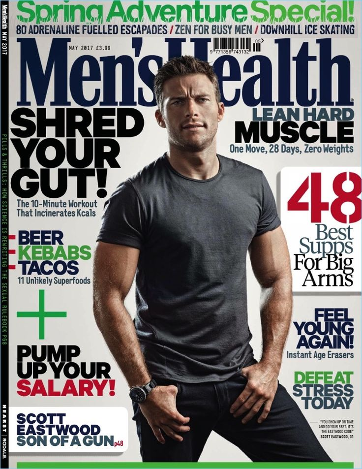 Scott Eastwood covers the May 2017 issue of Men's Health UK.