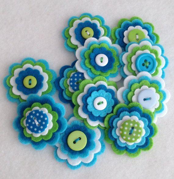 ESTATE x 3 Mix di fiore feltro stratificata di MagentaGingerCrafts