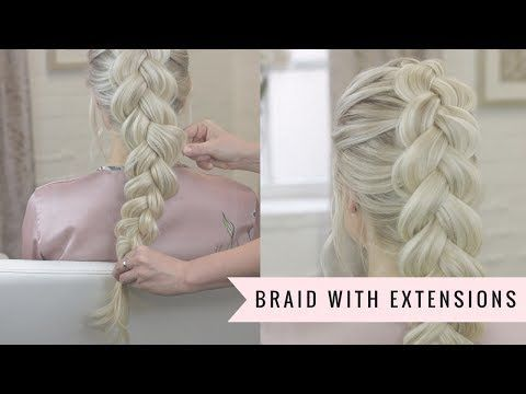 How to braid with clip in hair extensions youtube clip in hair how to braid with clip in hair extensions youtube solutioingenieria Choice Image