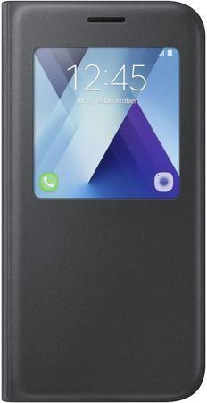 Чехол (флип-кейс) SAMSUNG S View Standing Cover, для Samsung Galaxy A7 (2017), черный [ef-ca720pbegru]  — 2690 руб. —  Чехол для Samsung Galaxy A7 (2017) с окошком для просмотра различных уведомлений. Защищает смартфон от пыли, царапин и других внешних воздействий. Чехол не закрывает разъемы устройства и имеет вырезы для камеры и динамиков. Чехол снабжен функцией горизонтальной подставки с удобным углом наклона.