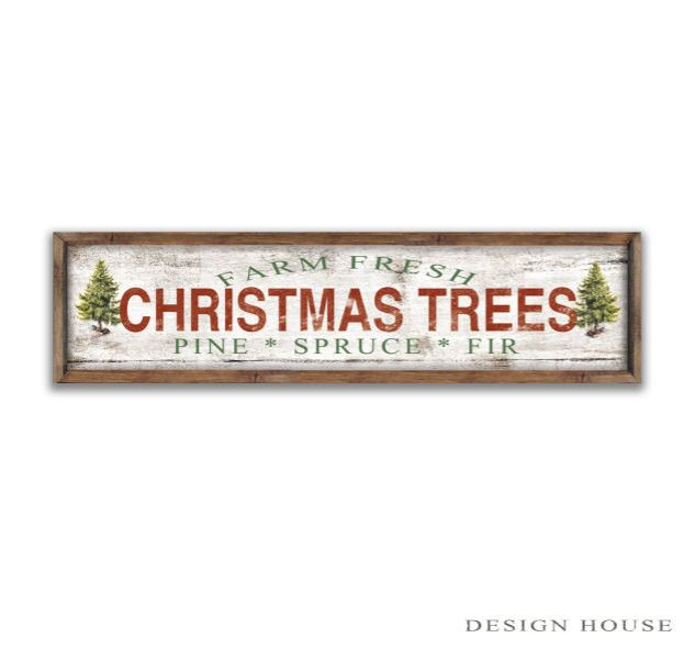 """Farm Fresh Christmas trees wooden sign 44""""x12""""x2"""" Christmas plaques Merry Christmas signs Christmas decor Holiday signs Holiday decor"""
