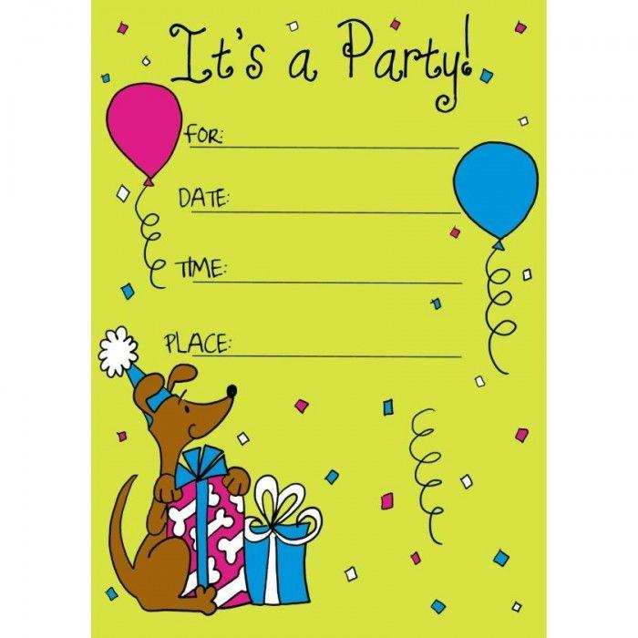 Sample Birthday Invitation Cards For