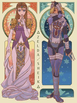 Pixel Zelda/Sheik. Loved her character and would always choose her for Super Smash Bros