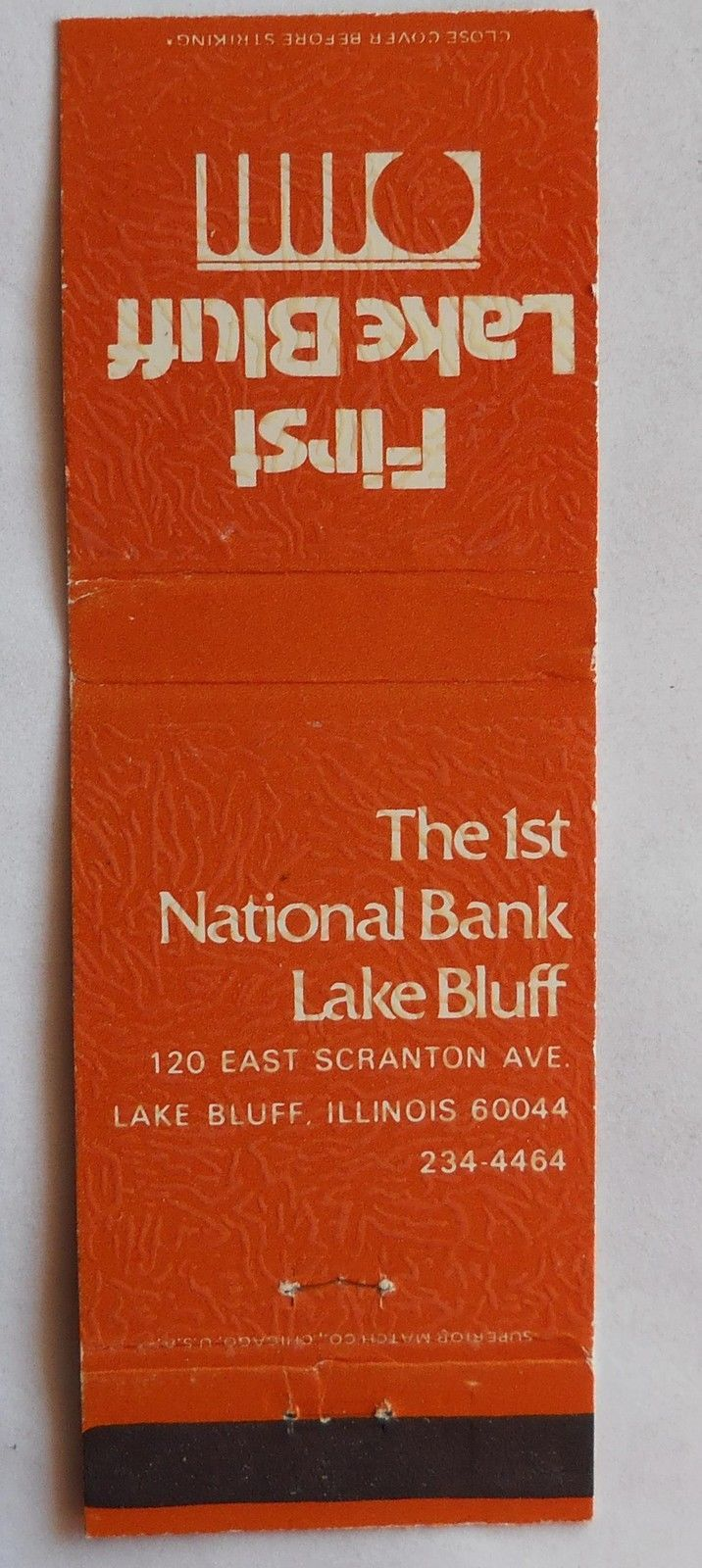 298. 1ST NATIONAL BANK LAKE BLUFF, LAKE BLUFF,IL Lake