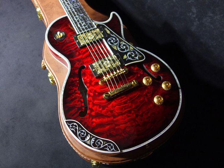 Gibson Custom Crimson Les Paul Bella Voce Velvet Ember built by Bruce J.Kunkel (New/ITM0009963) | Buy Guitars from Japan! [J-Guitar.com]