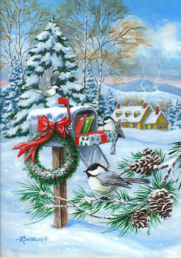 Christmas Mail Painting  - Christmas Mail Fine Art Print