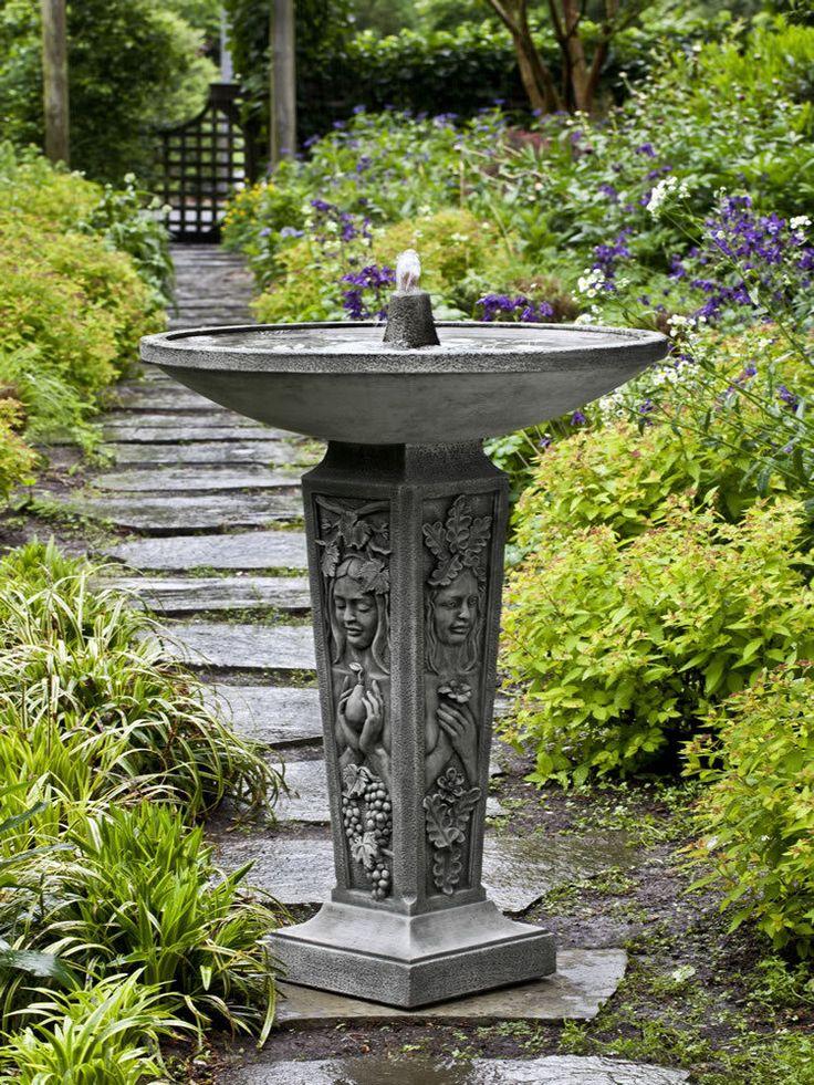 seasons garden water fountain