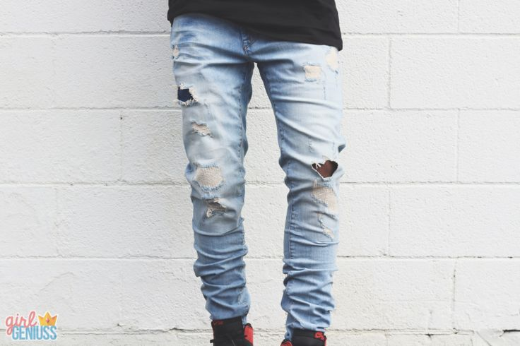 Staple Mens Ripped Jeans