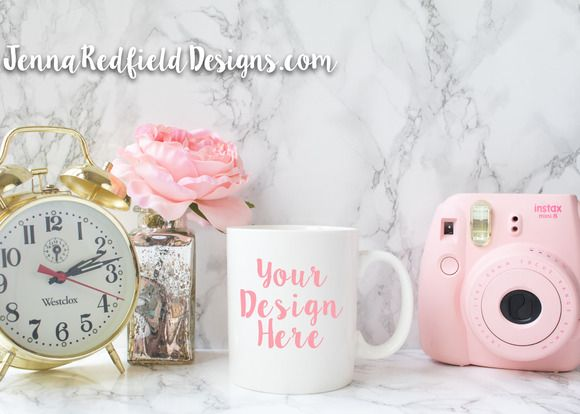 Pink and Gold Mug Mockup Styled Stoc by JennaRedfieldDesigns on @creativework247