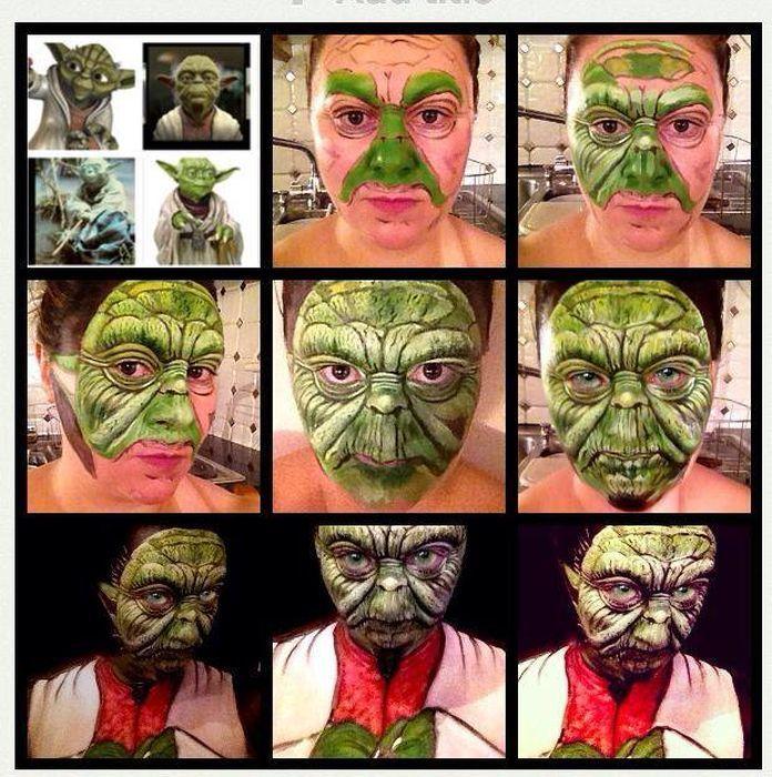Yoda Makeup Transformation