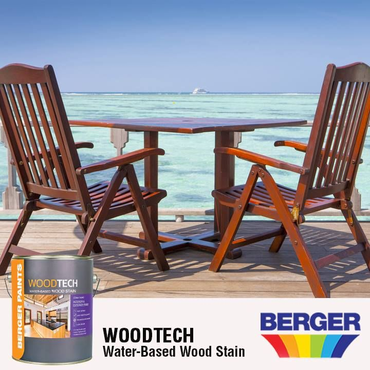Need To Refurbish Your Outdoor Furniture Our Woodtech Water Based Wood Stain Is A Highly Durable Stain Th Water Based Wood Stain Staining Wood Wooden Projects