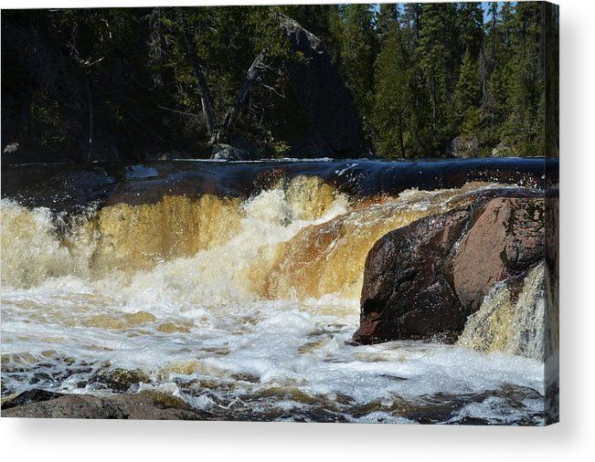 Nature Acrylic Print featuring the photograph Waterfall by Josh Schwindt. These pictures look amazing on canvas and make awesome wedding gifts.