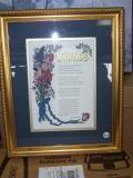 Friends framed poem