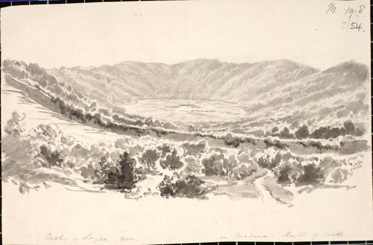nh0026.jpg 1 438 × 945 pixels Sketch of a caldera in Madeira by Sir Charles Lyell