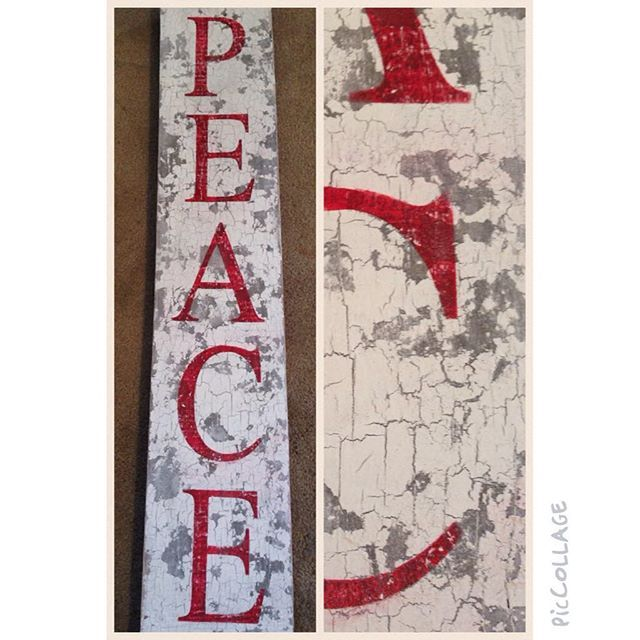Great wooden sign by Painted Paula using Artisan Enhancements Crackle Tex to create a rustic, crackled patina for the background.