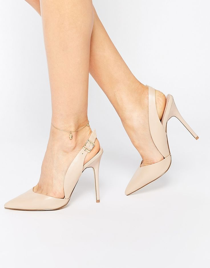 Image 1 of Lost Ink Capri Sling Back Nude Court Shoes