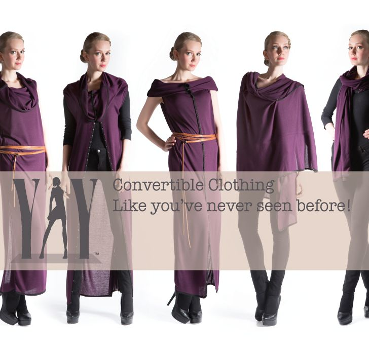 Convertible Clothing Like you've never seen before!     YAY Gladiolus Convertible Travel Dress is best clothes to travel in