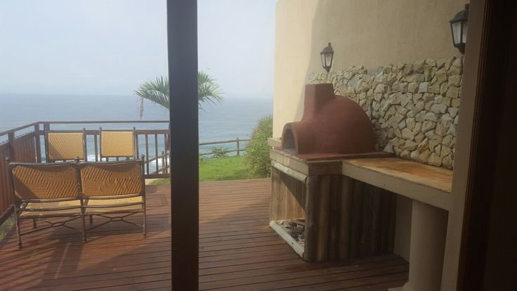 Oceanview accommodation pizza area
