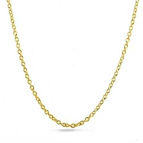 Gold Vermeil 060 Gauge Round Link Rolo Chain
