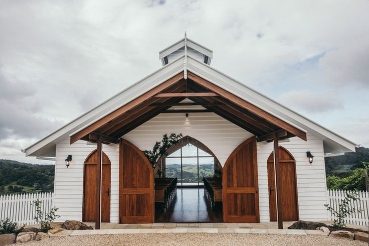 What a view! // Summergrove Estate's beautiful new chapel with views of the ocean and the Gold Coast hinterland + Surfers Paradise. Check out the blog on the link below