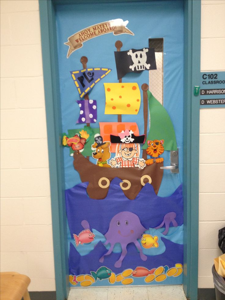 25 best ideas about pirate door on pinterest pirate for Art room door decoration