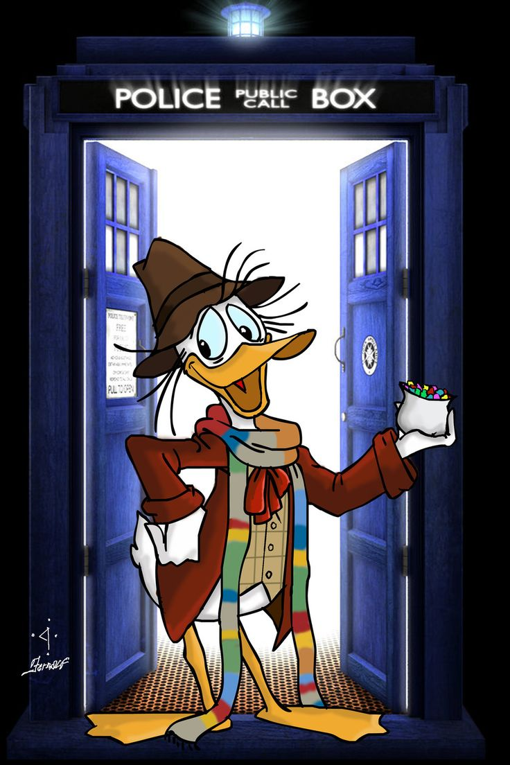 ''Fourth Doctor - Fethry Duck''  by fernalf (deviantART)  (Doctor Who - BBC Series)  source: http://fernalf.deviantart.com/art/Fourth-Doctor-Fethry-Duck-454257545